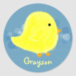 Grayson Cute Baby Chick Sticker