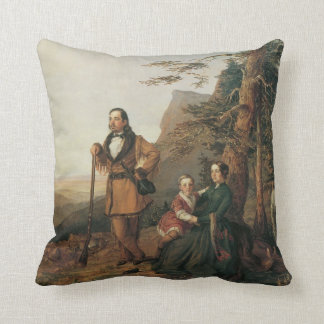 Grayson Family 1850 Old West American MoJo Pillow Throw Cushion