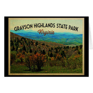 Grayson Highlands Virginia Greeting Card