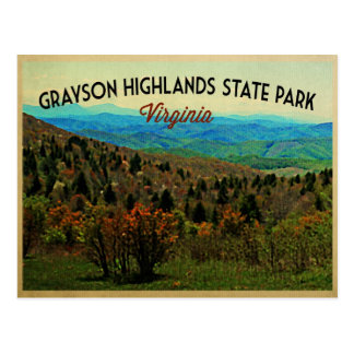Grayson Highlands Virginia Postcard