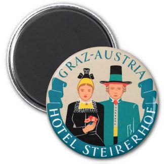 Graz-Austria 6 Cm Round Magnet