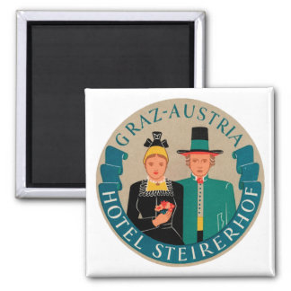Graz Austria Hotel Steirerhof Square Magnet