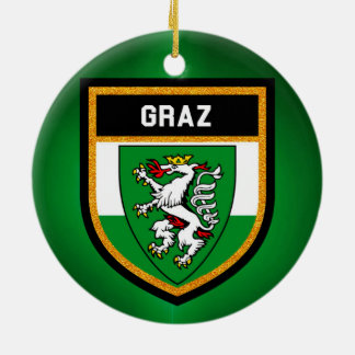 Graz Flag Christmas Ornament