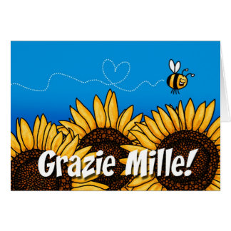 Grazie mille! (Italian Thank you card) Greeting Card