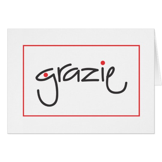 Grazie Thank you for personal or business use