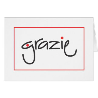 Grazie Thank you for personal or business use Note Card