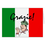 Grazie-Thanks-Italian Chef Greeting Card