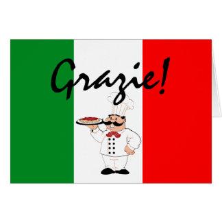 Grazie Thanks Italian Chef Note Card