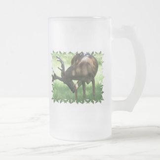 Grazing Deer Frosted Beer Mug