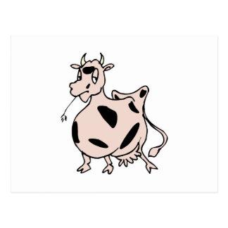 grazing happy cow postcards