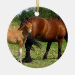 Grazing Horse Family Ornament