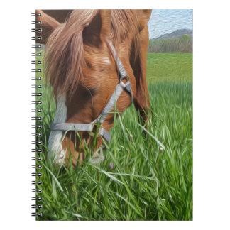 Grazing Horse Fine Art Spiral Notebook