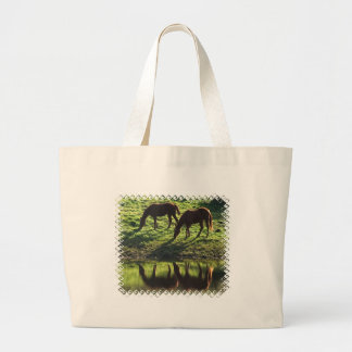 Grazing Horse Pair Canvas Bag