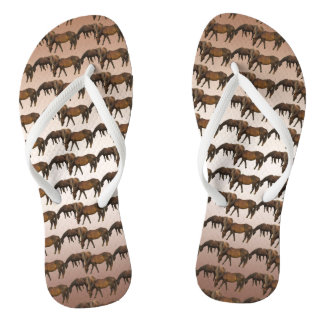 Grazing Horses Animal Flip Flops