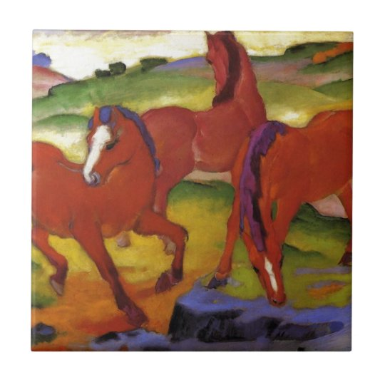 Grazing Horses IV (The Red Horses) by Franz
