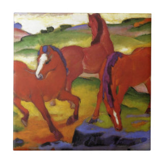 Grazing Horses IV (The Red Horses) by Franz Marc Tile