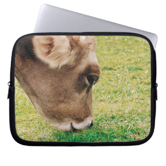 Grazing Jersey Cow Laptop Sleeve
