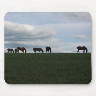 Grazing on the hill mouse pad