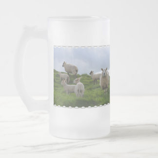 Grazing Sheep Frosted Beer Mug