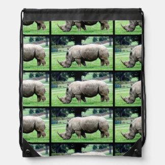 Grazing White Rhino Backpack