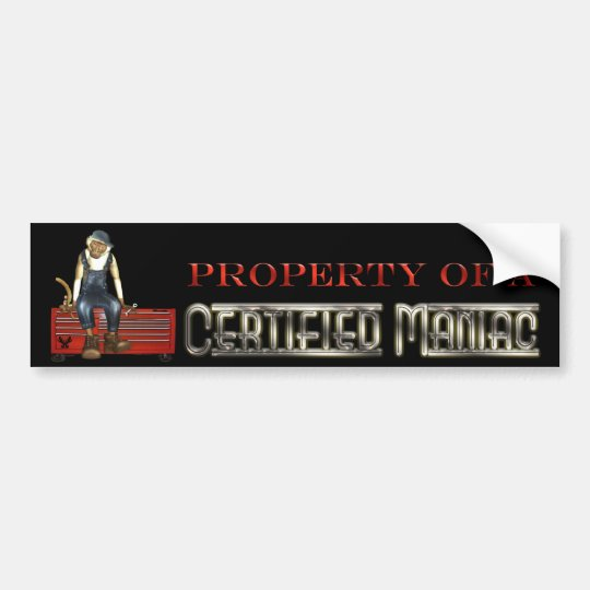 Grease Monkey Mechanics Toolbox Sticker (Red)