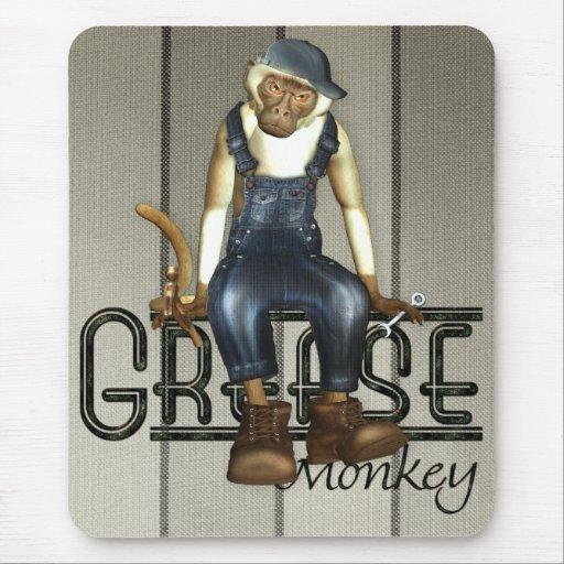 Grease Monkey Mousemat Mousepads