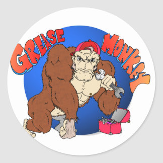 Grease Monkey Stickers