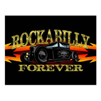 Greaser Rockabilly Hot Rod Postcard