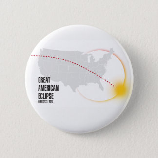 Great American Solar Eclipse 2017 6 Cm Round Badge
