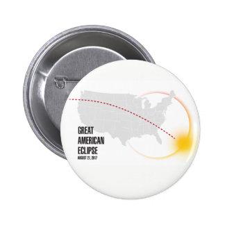 Great American Solar Eclipse 2017 6 Cm Round Badge