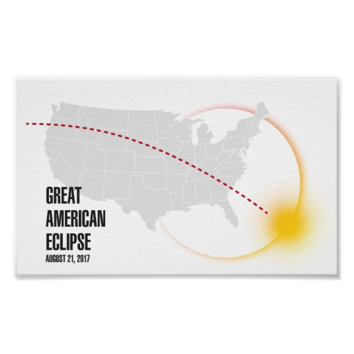 Great American Solar Eclipse 2017 Poster