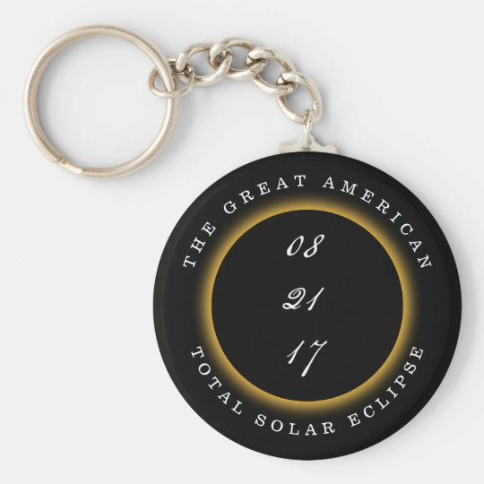 Great American Total Solar Eclipse 2017 Basic Round Button Key Ring