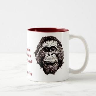 Great Ape Rescue and Rehabilitation Two-Tone Coffee Mug