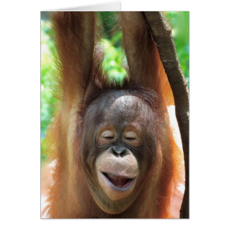 Great Ape Smiles Make Life Better Card