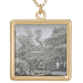 Great Asian Archipelago: French explorers with nat Gold Plated Necklace