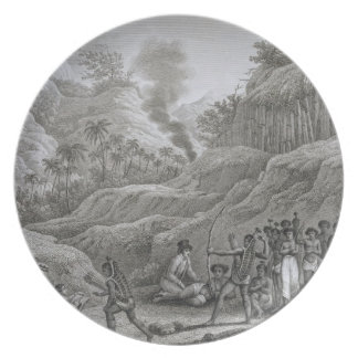 Great Asian Archipelago: French explorers with nat Plate