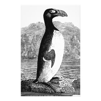 Great Auk Wood Engraving Stationery