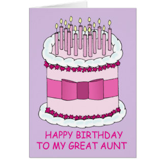 Great Aunt Birthday, giant cake. Card