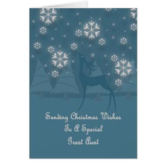 Great Aunt Reindeer Christmas Card