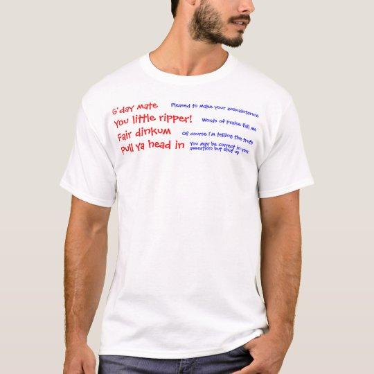 Great Aussie Slang T-Shirt