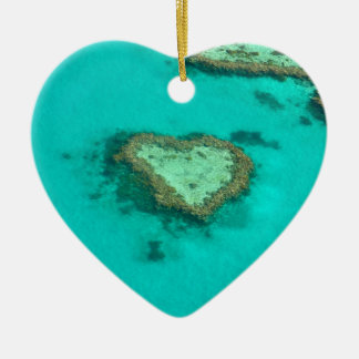 Great Barrier Reef, Australia heart coral Ceramic Heart Decoration