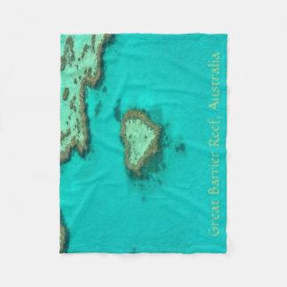 Great Barrier Reef, Australia heart coral Fleece Blanket