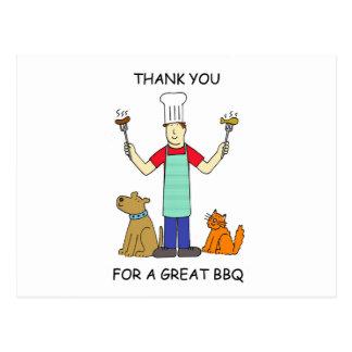 Great BBQ Thanks. Postcard