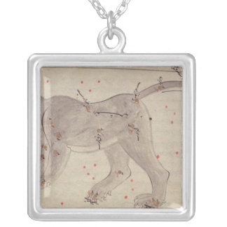 Great Bear, from Book of Stars after El Hussein Silver Plated Necklace