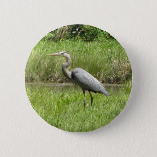 Great Blue Heron 6 Cm Round Badge