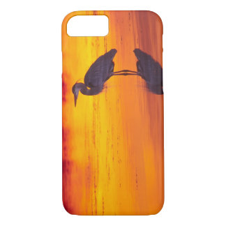 Great Blue Heron (Ardea herodias) fishing at iPhone 8/7 Case