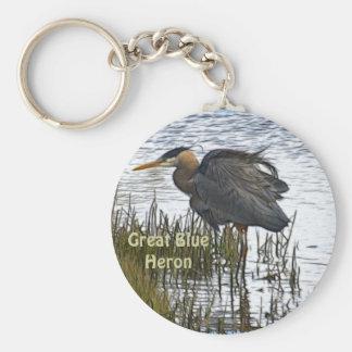 Great Blue Heron Art Key-chains Key Chains