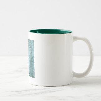 Great Blue Heron at dusk Two-Tone Coffee Mug
