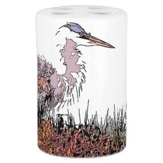 Great Blue Heron Bird Wildlife Animals Bath Set