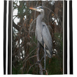 Great Blue Heron Bird Wildlife Animals Curtain Shower Curtain